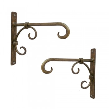 Iron Wall Bracket - Antique Golden (Set of 2)