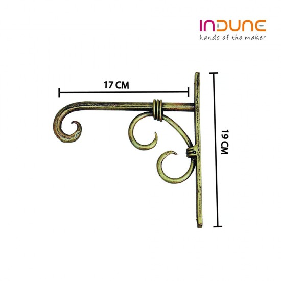 Iron Wall Bracket - Antique Golden