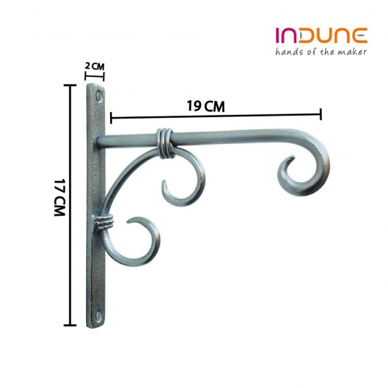 Iron Wall Bracket - Antique Silver - To Hang Lantern or Decorative Accessory