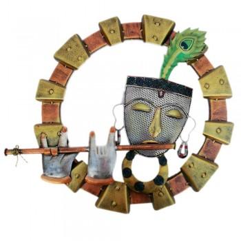 Iron Krishna Frame - Hand Painted