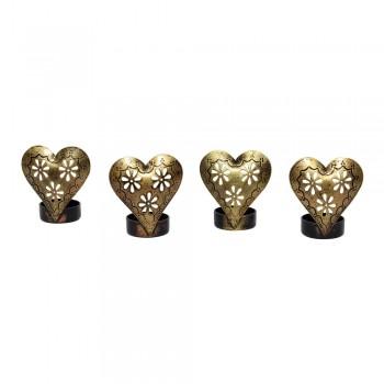Create a delightful table décor with Heart t-light holders