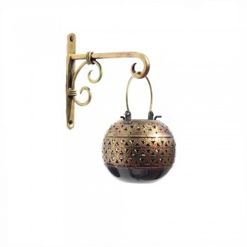 Iron wall Bracket with Iron Ball Handi Tea Light Antique Golden