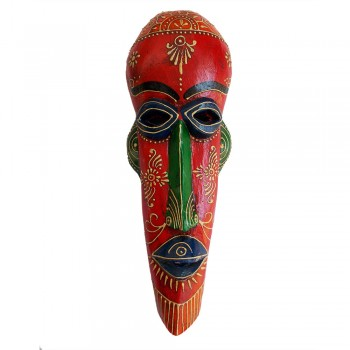 Wooden Tribal Mask Wall Piece 15""