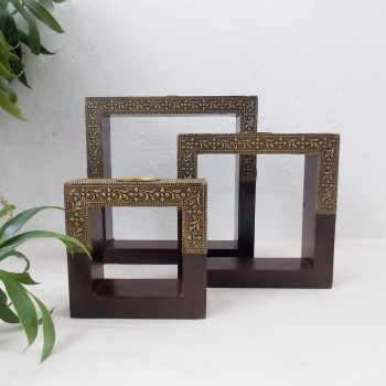 In-Square Tea Light Holder, Set of Three