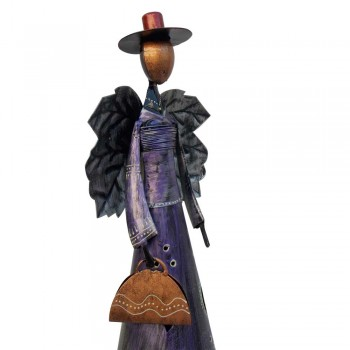 Angel with Hat and Bag- Iron / Painted