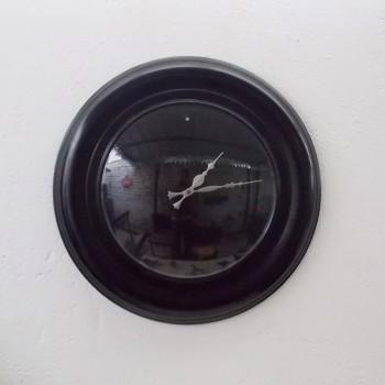All Black Wall Clock