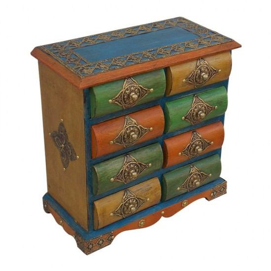 Eight Drawers Wooden Mini Chest
