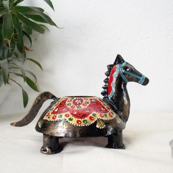 Horse Tea Light Holder - Iron Craft