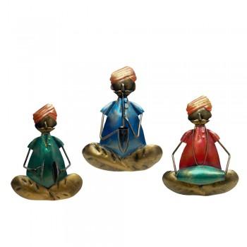Iron Craft Wall Decor Rajasthani Musician - Set of Three