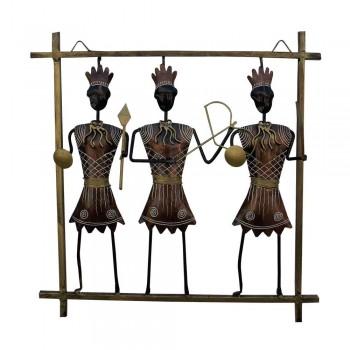 Iron Craft African Hunter Wall Decor Frame