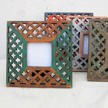 Wooden Photo Frames Jali - Assorted Colors