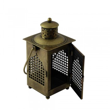 Antique Golden Finish Iron Lantern