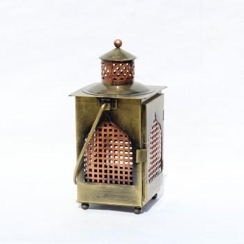 Antique Golden-Copper Finish Iron Lantern
