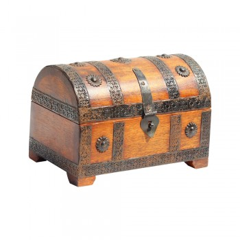 Small Treasure Box with Embosed Iron Art