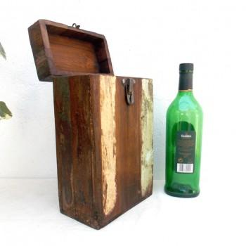 Reclaimed Wood Wine Case for Two Bottles