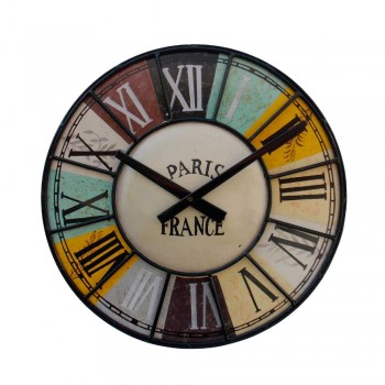 Retro Wall Clock- Vintage Style, Iron
