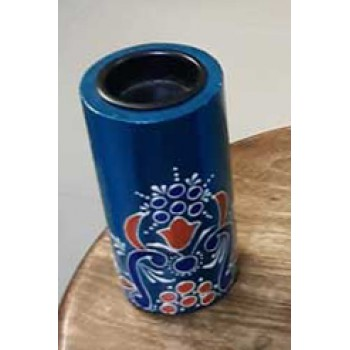 Candle Stand Cylindrical Small (Collection- Flora On Sapphire)