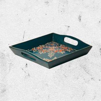Tray Square Small (Collection- Flora On Sapphire)