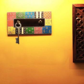 Wooden Hanger - 2 Hooks - Hand Painted