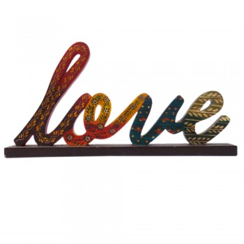 LOVE - Hand Painted Wooden Alphabet Calligraphy