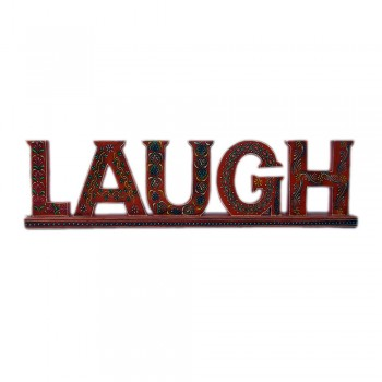 LAUGH - Wooden Calligraphy Albhabets