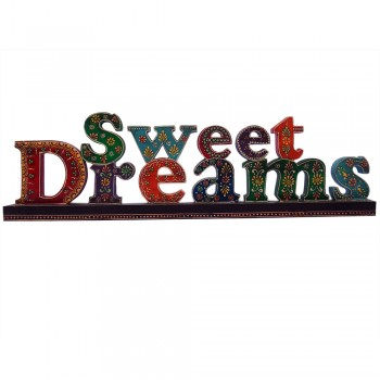 Sweet Dreams - Hand Painted Wooden Calligraphy Alphabets.