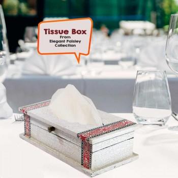 Tissue Box (Collection- Elegant Paisley)