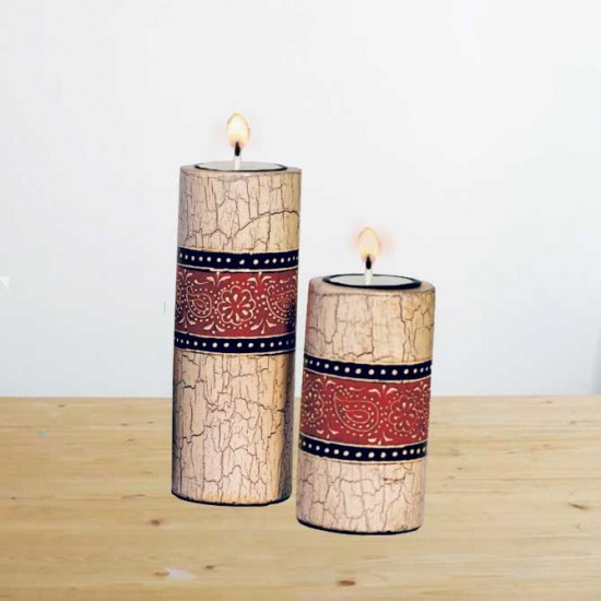 Candle Stands Combo from Elegant Paisley Collection