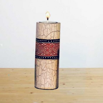 Candle Stand Cylindrical Medium (Collection- Elegant Paisley)