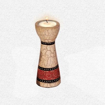Candle Stand Floral / Taper Medium (Collection- Elegant Paisley)