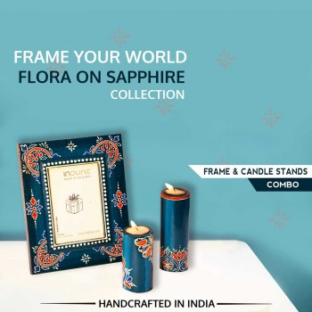 Photo Frame and Candle Stands Combo from Flora on Sapphire Collection