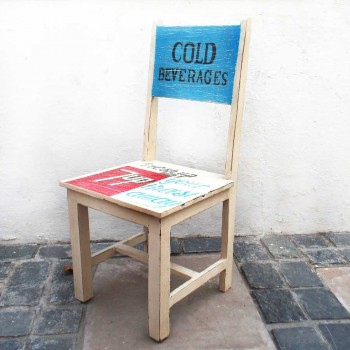 Retro Dining Table with 4 Chairs