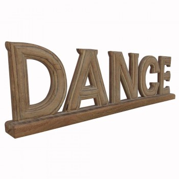 Hand Painted Wooden Alphabets  DANCE Decorative Piece