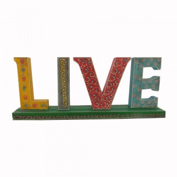 Hand Painted Wooden Alphabets - LIVE Decorative Piece