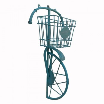 Cycle Wall Decor Planter - Iron Distressed Blue Painted
