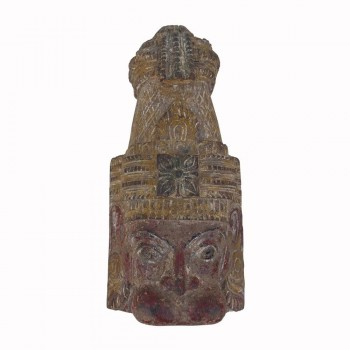 Hanuman/ Balram- Antique Carved Wooden Wall Piece