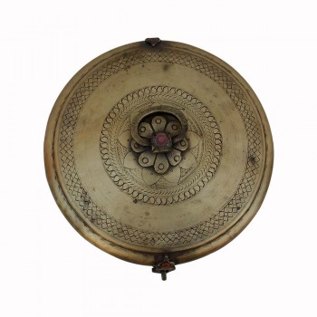 Vintage Collectible Chapati Box (Dabusa)- Brass, Old & Interesting