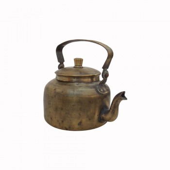 Indian Railway Station Style Old Brass Chai Kettle