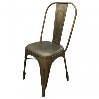 Antique Golden Finished Metal Craft Dinning Chair