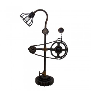 Recycled Industrial Mechanical Components Bicycle Chain Desk Lamp