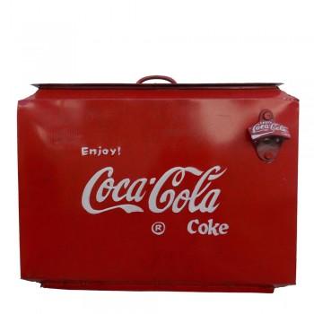 Vintage Style Iron Coca Cola Cooler Box