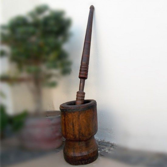 Vintage Collection - Old Wooden Spice Okhli