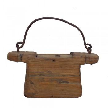 Vintage Carved Wooden Oil Box