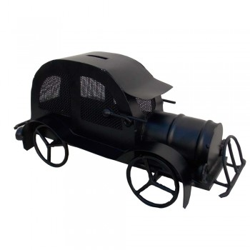 Iron Model of Vintage Steam Car - Coin Box