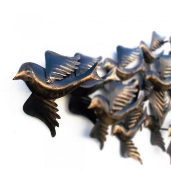 Iron Craft Migrating Birds Wall Decor - LED Backlit Art