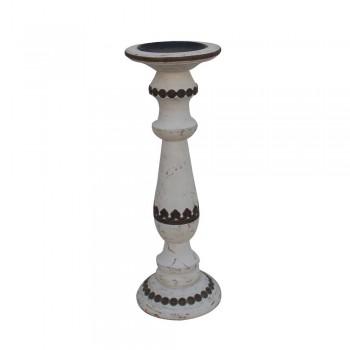 Pillar Candle Stand - Distress White