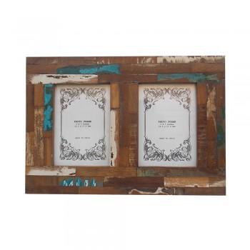 Couple Photo Frame 2 Photo 5x7 - Reclaimed Wood