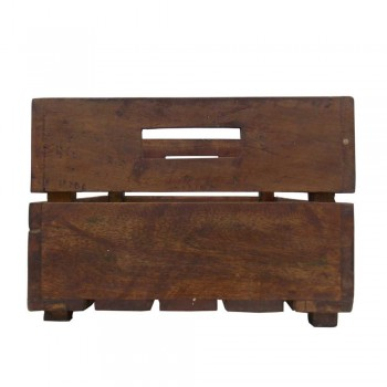 Wooden Planter Rough Polish - Wine Crate
