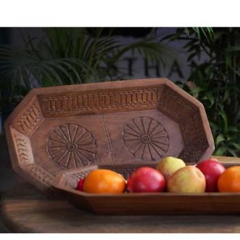 Wooden Octagonal Tray