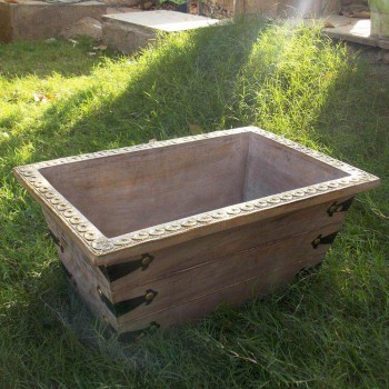 Distressed White Planter - Tapered